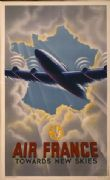 Vintage Air France poster -towards new skies